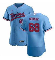 Men Minnesota Twins 68 Randy Dobnak Men Nike Light Blue Alternate 2020 Flex Base Team MLB Jersey