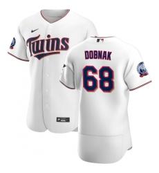 Men Minnesota Twins 68 Randy Dobnak Men Nike White Home 2020 60th Season Flex Base Team MLB Jersey