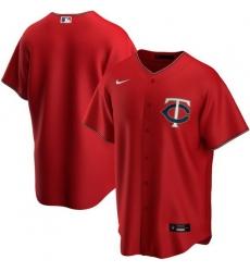 Men Minnesota Twins Nike Red Blank Jersey
