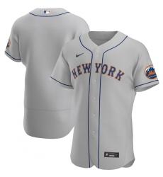Men New York Mets Men Nike Gray Road 2020 Flex Base Official Team MLB Jersey