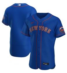 Men New York Mets Men Nike Royal Alternate 2020 Flex Base Team MLBJersey