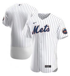 Men New York Mets Men Nike White Home 2020 Flex Base Official Team MLB Jersey