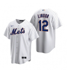 Men Nike New York Mets Francisco Lindor White Cool Base Stitched Jersey