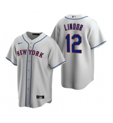 Youth Nike New York Mets Francisco Lindor Gray Cool Base Stitched Jersey