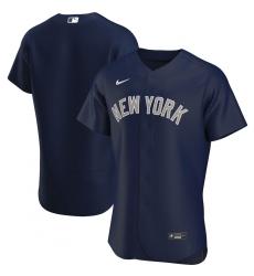 Men New York Yankees Men Nike Navy Alternate 2020 Flex Base Team Name MLB Jersey