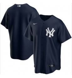 Men New York Yankees Nike Blue Blank Jersey