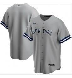 Men New York Yankees Nike Gray Blank Jersey