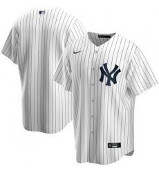 Men New York Yankees Nike White Blank Jersey