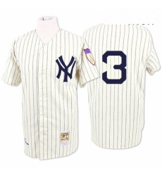 Mens Mitchell and Ness 1929 New York Yankees 3 Babe Ruth Replica White Throwback MLB Jersey