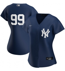 New York Yankees 99 Aaron Judge Nike Women 2020 Spring Training Home MLB Player Jersey Navy