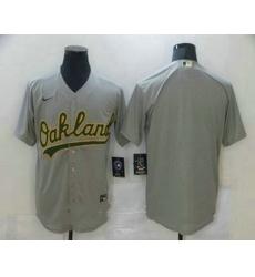 Men Oakland Athletics Blank Grey Stitched MLB Cool Base Nike Jersey