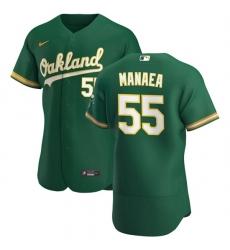 Oakland Athletics 55 Sean Manaea Men Nike Kelly Green Alternate 2020 Authentic Player MLB Jersey