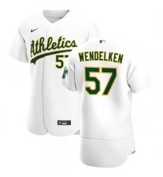 Oakland Athletics 57 J B  Wendelken Men Nike White Home 2020 Authentic Player MLB Jersey