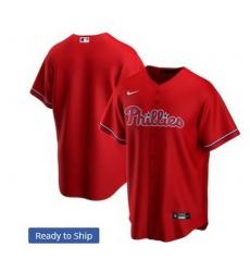 Men Philadelphia Phillies Nike Red Blank Jersey