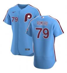 Philadelphia Phillies 79 JoJo Romero Men Nike Light Blue Alternate 2020 Authentic Player MLB Jersey
