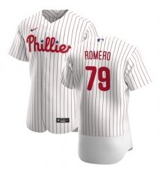 Philadelphia Phillies 79 JoJo Romero Men Nike White Home 2020 Authentic Player MLB Jersey