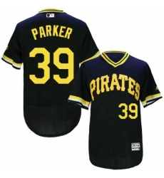 Mens Majestic Pittsburgh Pirates 39 Dave Parker Black Flexbase Authentic Collection Cooperstown MLB Jersey