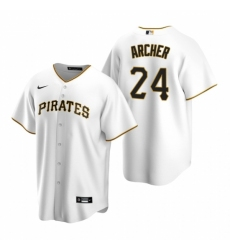 Mens Nike Pittsburgh Pirates 24 Chris Archer White Home Stitched Baseball Jersey