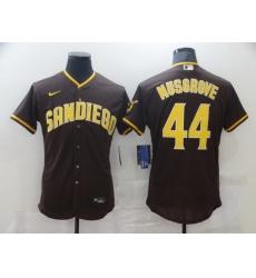 Men Nike San Diego Padres 44 Musgrove Brown Tan Authentic Alternate Player Jersey