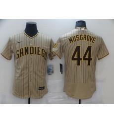 Men Nike San Diego Padres 44 Musgrove Tan Brown Authentic Alternate Player Jersey