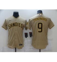 Men Nike San Diego Padres 9 CRONENWORTH Brown Stitichen Authentic Alternate Player Jersey