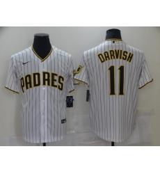 Men San Diego Padres 11 Yu Darvish White Home Flexbase Jersey