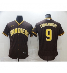 Women Nike San Diego Padres 9 Jake Cronenworth Brown 2021 Road Player Jersey