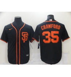 Men Nike San Francisco Giants 35 Brandon Crawford Black Cool Base Player MLB Jersey