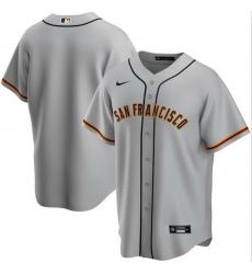 Men San Francisco Giants Nike Gray Blank Jersey