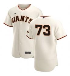 San Francisco Giants 73 Caleb Baragar Men Nike Cream Home 2020 Authentic Player MLB Jersey