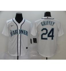 Mariners 24 Ken Griffey Jr  White 2020 Nike Cool Base Jersey