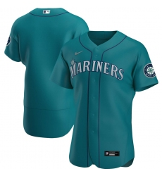 Men Seattle Mariners Men Nike Aqua Alternate 2020 Flex Base Official Team MLB Jersey