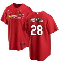 Men St. Louis Cardinals Nolan Arenado Red Jersey Home Cool Base