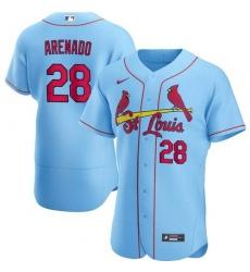 Men's St. Louis Cardinals Nolan Arenado Blue Jersey Home Flex Base