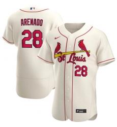 Men's St. Louis Cardinals Nolan Arenado Ice Cream Jersey Home Flex Base