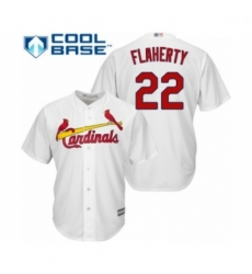 Youth St. Louis Cardinals #22 Jack Flaherty Authentic White Home Cool Base Baseball Player Jersey
