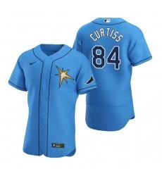 Men Tampa Bay Rays 84 John Curtiss Men Nike Light Blue Alternate 2020 Flex Base Team MLB Jersey