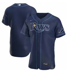 Men Tampa Bay Rays Men Nike Navy Alternate 2020 Flex Base Official Team MLB Jersey