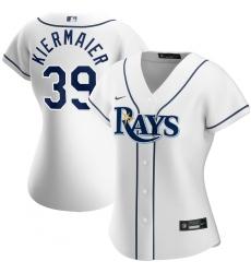 Tampa Bay Rays 39 Kevin Kiermaier Nike Women Home 2020 MLB Player Jersey White