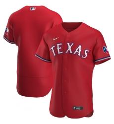 Men Texas Rangers Men Nike Red Alternate 2020 Flex Base MLB Jersey