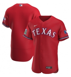 Men Texas Rangers Men Nike Scarlet Alternate 2020 Flex Base Team MLB Jersey