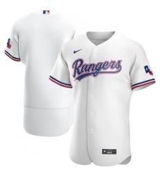 Men Texas Rangers Men Nike White Home 2020 Flex Base MLB Jersey
