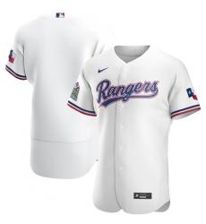 Men Texas Rangers Men Nike White Home 2020 Flex Base Team MLB Jersey
