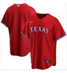 Men Texas Rangers Nike Red Blank Jersey