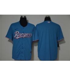 Rangers Blank Blue Nike 2020 Cool Base Jersey