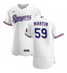 Texas Rangers 59 Brett Martin Men Nike White Home 2020 Authentic Player MLB Jersey