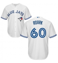 Blue Jays 60 Tanner Roark White New Cool Base Stitched MLB Jersey
