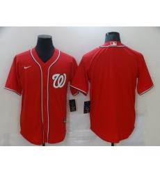 Men Nike Washington Nationals Red  Blank Coolbase Jersey