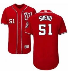 Men Washington Nationals Wander Suero 51 Nike Red Home 2020 Authentic Player MLB Jersey
