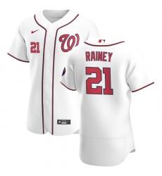 Washington Nationals 21 Tanner Rainey Men Nike White Home 2020 Authentic Player MLB Jersey